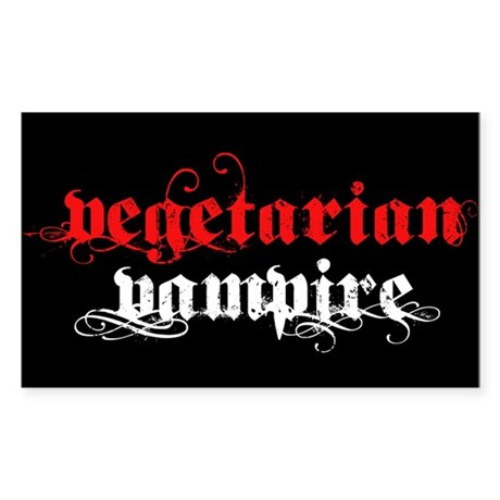 Vegetarian Vampire Rectangle Sticker