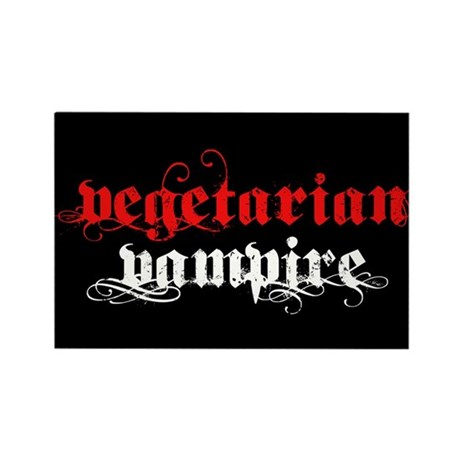Vegetarian Vampire Rectangle Magnet (10 pack)