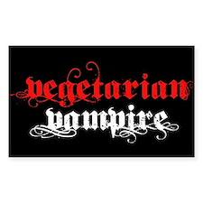 Vegetarian Vampire Rectangle Sticker 10 pk)