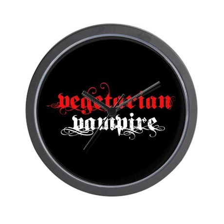 Vegetarian Vampire Wall Clock