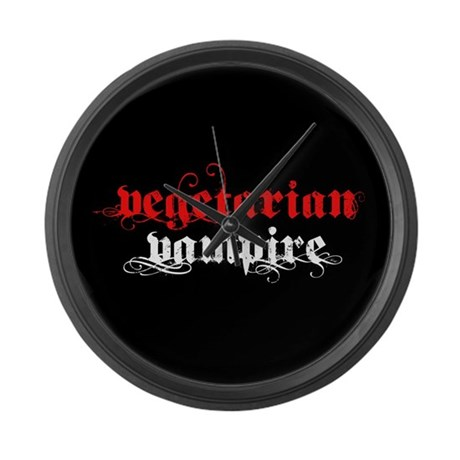 Vegetarian Vampire Large Wall Clock