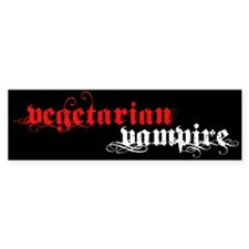Vegetarian Vampire Bumper Sticker