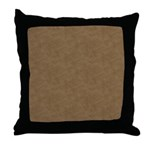 Brown Parchment Look Throw Pillow