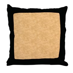 Tan Parchment Look Throw Pillow