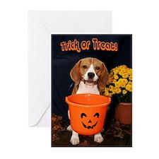 Halloween Beagle Greeting Cards (Pk of 10)
