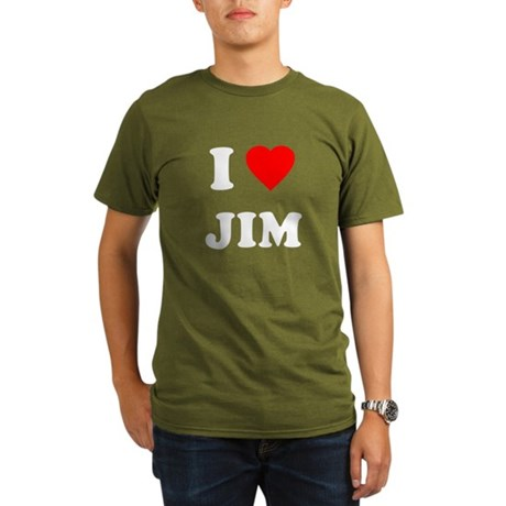 I Love Jim Organic Mens Dark T-Shirt