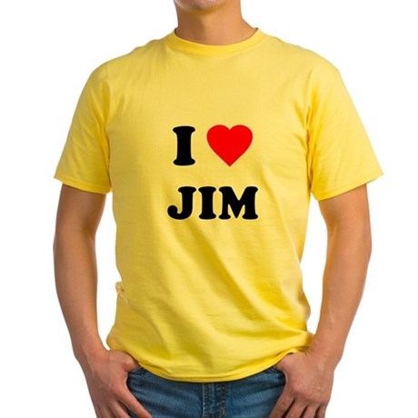 I Love Jim Yellow T-Shirt