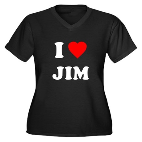 I Love Jim Plus Size V-Neck Shirt