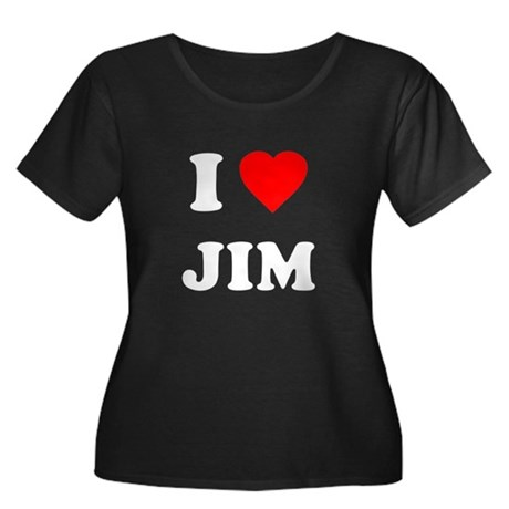 I Love Jim Womens Plus Size Scoop Neck Dark T-Shi