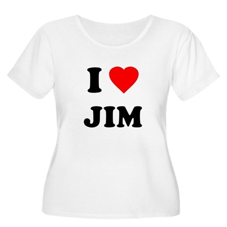 I Love Jim Plus Size Scoop Neck Shirt