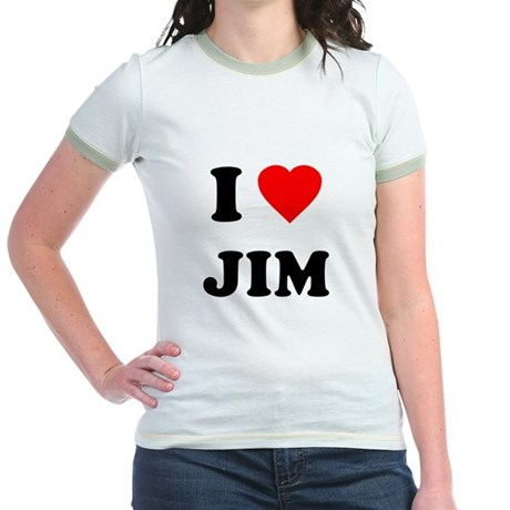 I Love Jim Jr Ringer T-Shirt