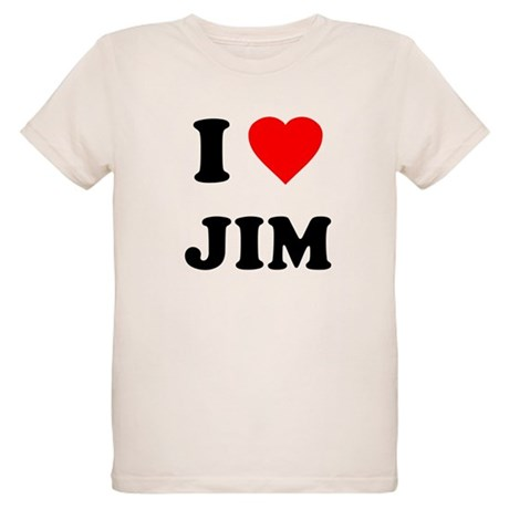 I Love Jim Organic Kids T-Shirt
