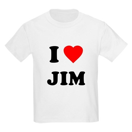 I Love Jim Kids Light T-Shirt
