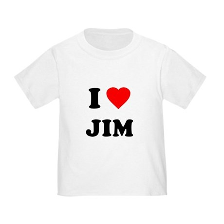 I Love Jim Toddler T-Shirt