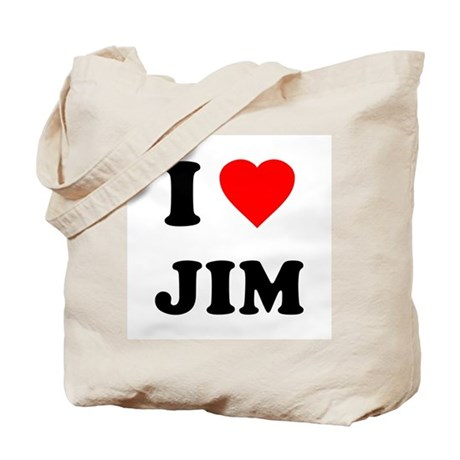 I Love Jim Tote Bag