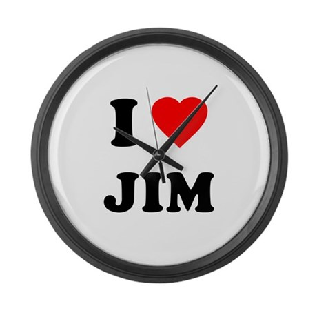 I Love Jim Large Wall Clock