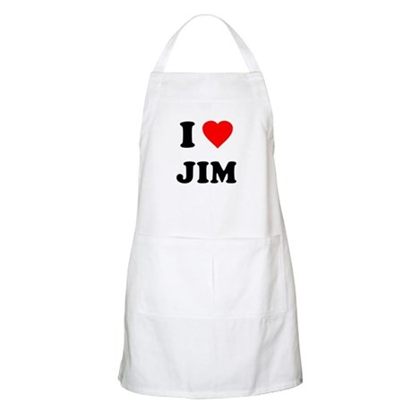 I Love Jim BBQ Apron