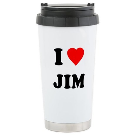 I Love Jim Ceramic Travel Mug