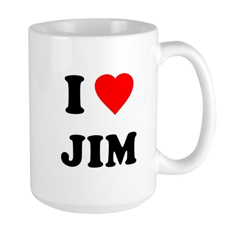 I Love Jim Large Mug
