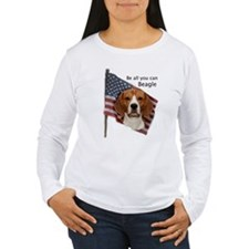 Cute Beagle american flag T-Shirt