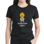 Hepatology Chick Women's Dark T-Shirt