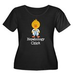 Hepatology Chick Women's Plus Size Scoop Neck Dark