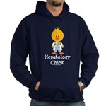 Hepatology Chick Hoodie (dark)