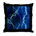Cyan Lightning Look Throw Pillow