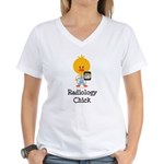 Radiology Chick Women's V-Neck T-Shirt