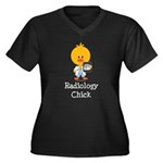 Radiology Chick Women's Plus Size V-Neck Dark T-Sh