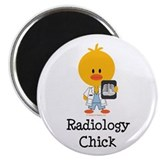 "Radiology Chick 2.25"" Magnet (100 pack)"