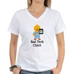 Rad Tech Chick Women's V-Neck T-Shirt