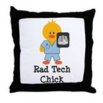 Rad Tech Chick Throw Pillow