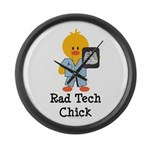 Rad Tech Chick Large Wall Clock