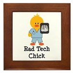 Rad Tech Chick Framed Tile