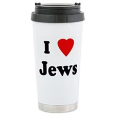 I Love Jews Ceramic Travel Mug