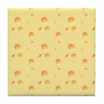 Dark Yellow Cheese Tile Coaster