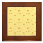 Dark Yellow Cheese Framed Tile