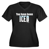 You have been Iced Women's Plus Size V-Neck Dark T