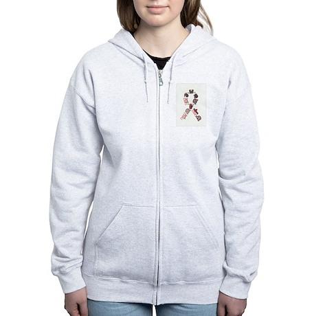 Woof Ribbon Women's Zip Hoodie