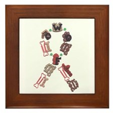 Woof Ribbon Framed Tile