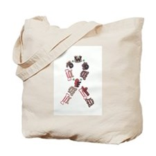 Woof Ribbon Tote Bag