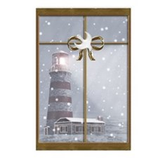 Lighthouse Christmas Postcards (Package o