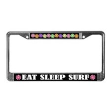 Eat Sleep Surf License Plate Frame