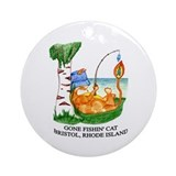 Gone Fishin' Cat Bristol (Round)