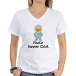 Plastic Surgery Chick Women's V-Neck T-Shirt