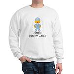 Plastic Surgery Chick Sweatshirt