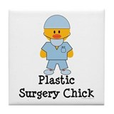 Plastic Surgery Chick Tile Coaster