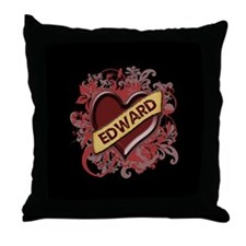 Edward Flourish Throw Pillow
