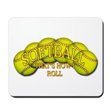 Softballs roll Mousepad